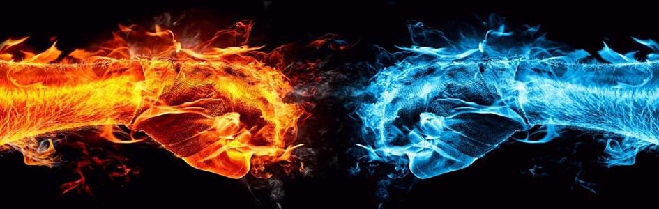 ka in li ogenj in voda