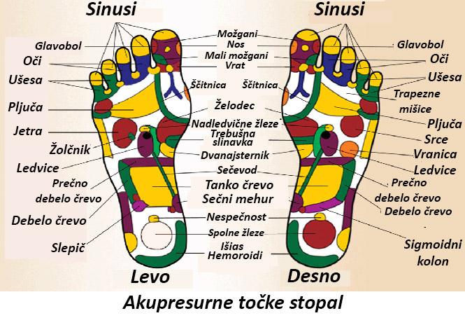 refleksne točke na stopalih