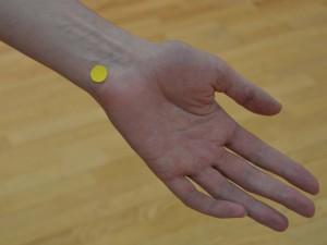 Vrata Uma (H 7 – Srce) Lokacija: Ta točka je na notranji strani dlani na gobi zapestja tik pod mezincem.
