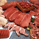 Vrste mesa, ki imajo visoko vsebnost nasičenih kislin, bi morale biti v času po zlatenici izključene iz jedilnika.