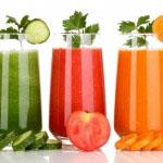 zelenjavni sokovi za zdrave mandelne