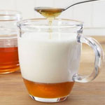 mleko z medom