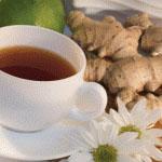 Zlatenica se izboljša ob enkrat dnevnem pitju ingverjevega čaja.