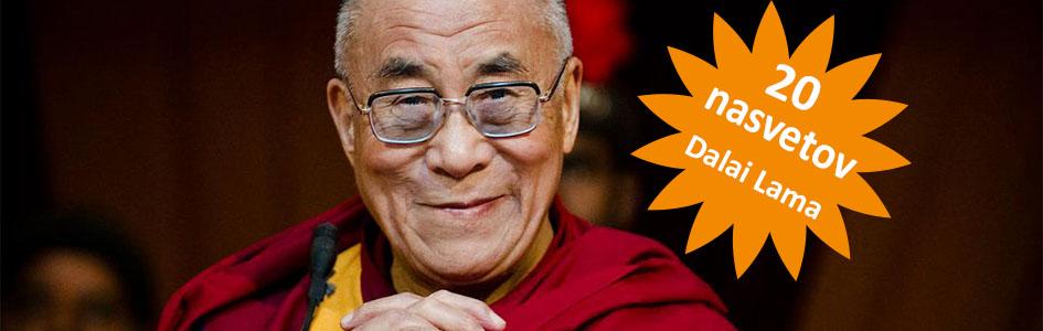20 nasvetov za življenje »Dalai Lama«