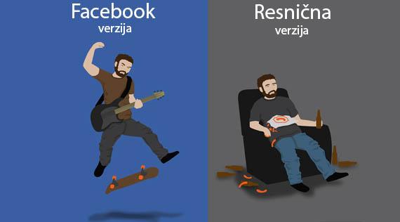 facebook vs resničnost